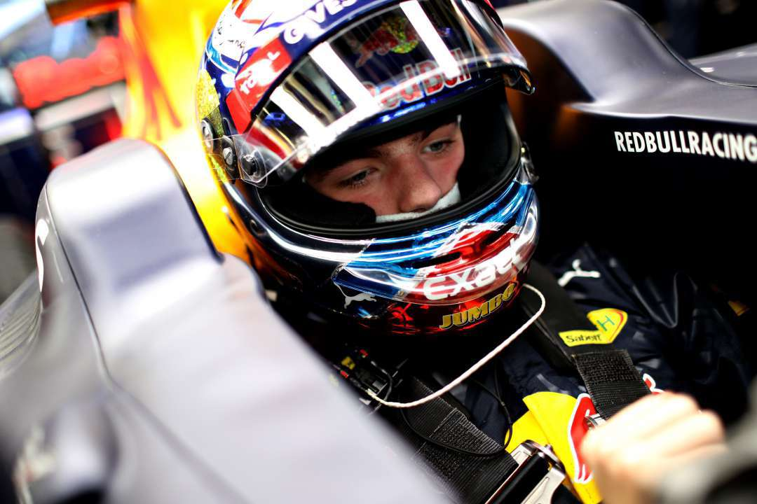 BAKU, AZERBAIJAN - JUNE 17: Max Verstappen of Netherlands and Red Bull Racing sits in his car in the garage during practice for the European Formula One Grand Prix at Baku City Circuit on June 17, 2016 in Baku, Azerbaijan.  (Photo by Mark Thompson/Getty Images)