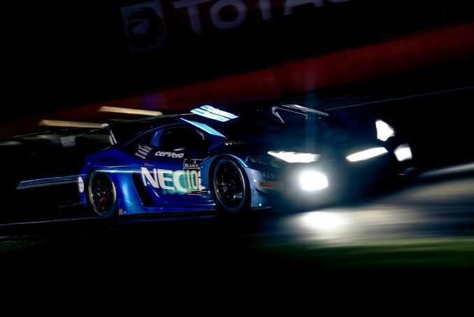 Lamborghini Leusden - De NEC-Lamborghini in nachtelijke actie tijdens de Spa 24 Hours race 160731