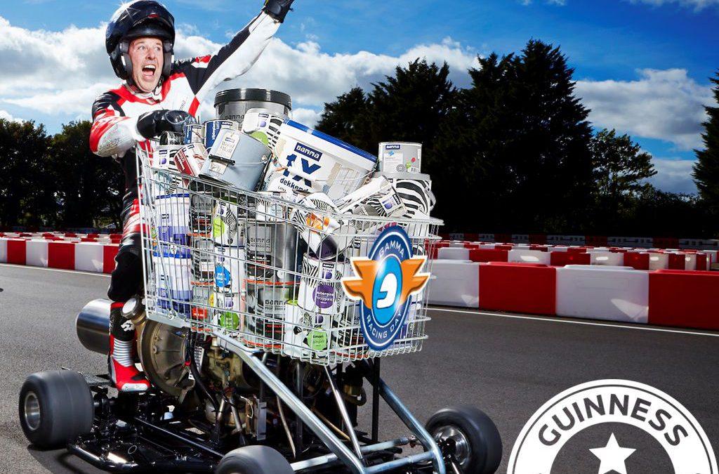 Snelste 'shopping cart' ter wereld gaat voor ronderecord  tijdens GAMMA Racing Day
