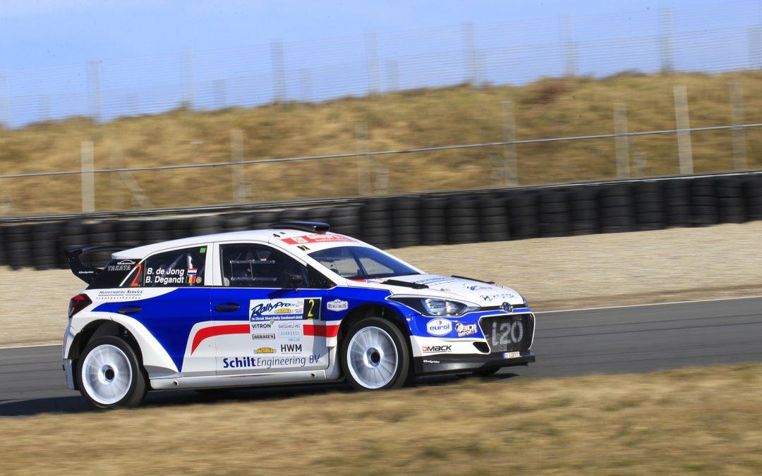 Korte, maar hevige test voor Bob de Jong met Hyundai i20 R5.