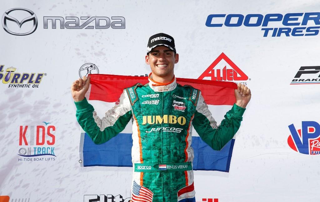 Rinus van Kalmthout imponeert met dubbele winst bij Pro Mazda-debuut in St. Petersburg