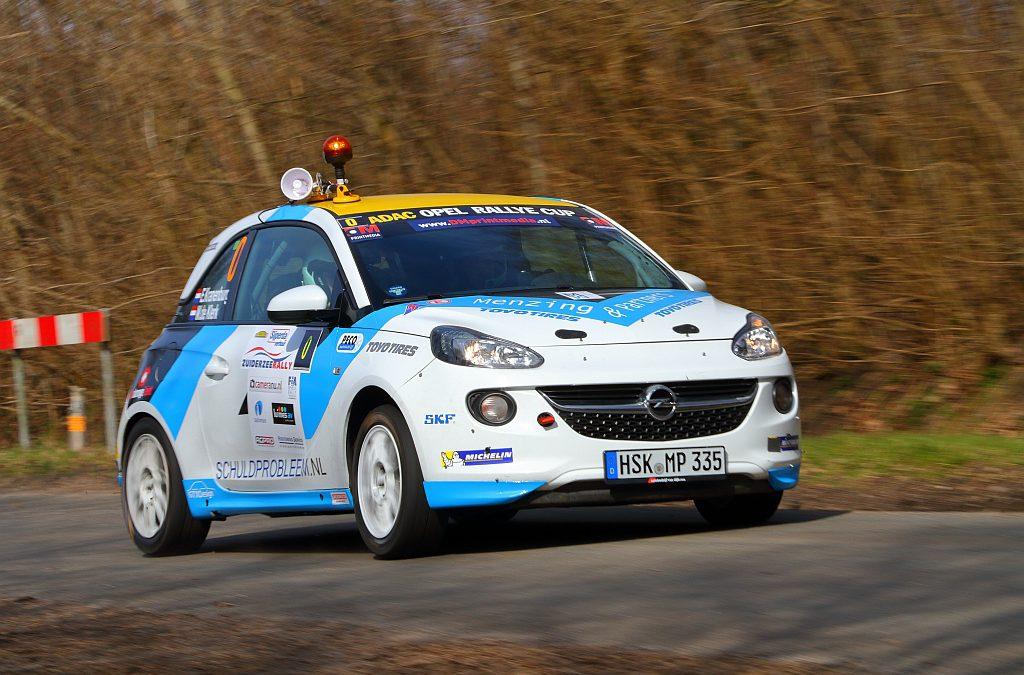 Rallysport Utrecht debuteert met Opel Adam tijdens Zuiderzeerally