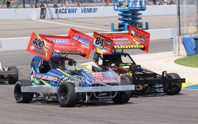 Snoeiharde gevechten en zomerse temperaturen op Raceway Venray