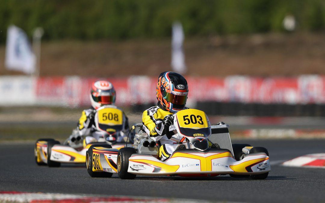 Moeilijk weekend voor Nederlandse karttalenten bij openingsronde CIK-FIA Karting Academy Trophy