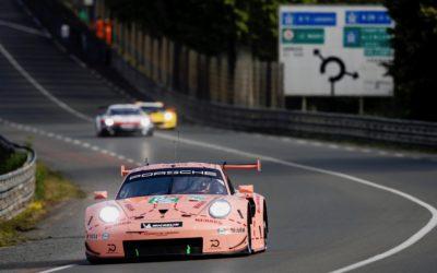 Tien Porsches 911 RSR aan de start tijdens 24 Uur van Le Mans (Video)