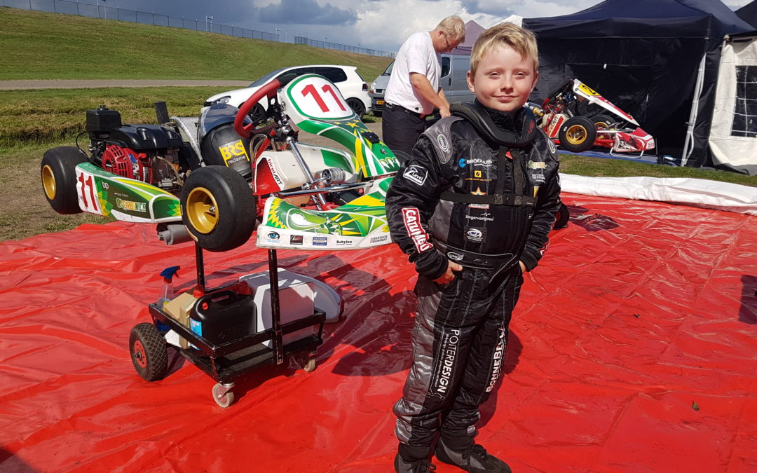 Nat maar prima debuut voor Nick op de GK4 KartSeries TT-Assen