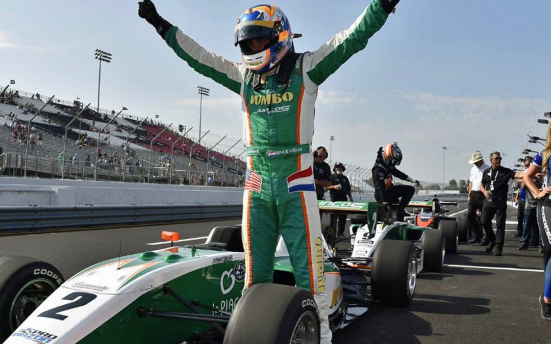 Overtuigende eerste oval-overwinning voor Rinus van Kalmthout op Gateway geeft zicht op Pro-Mazda titel