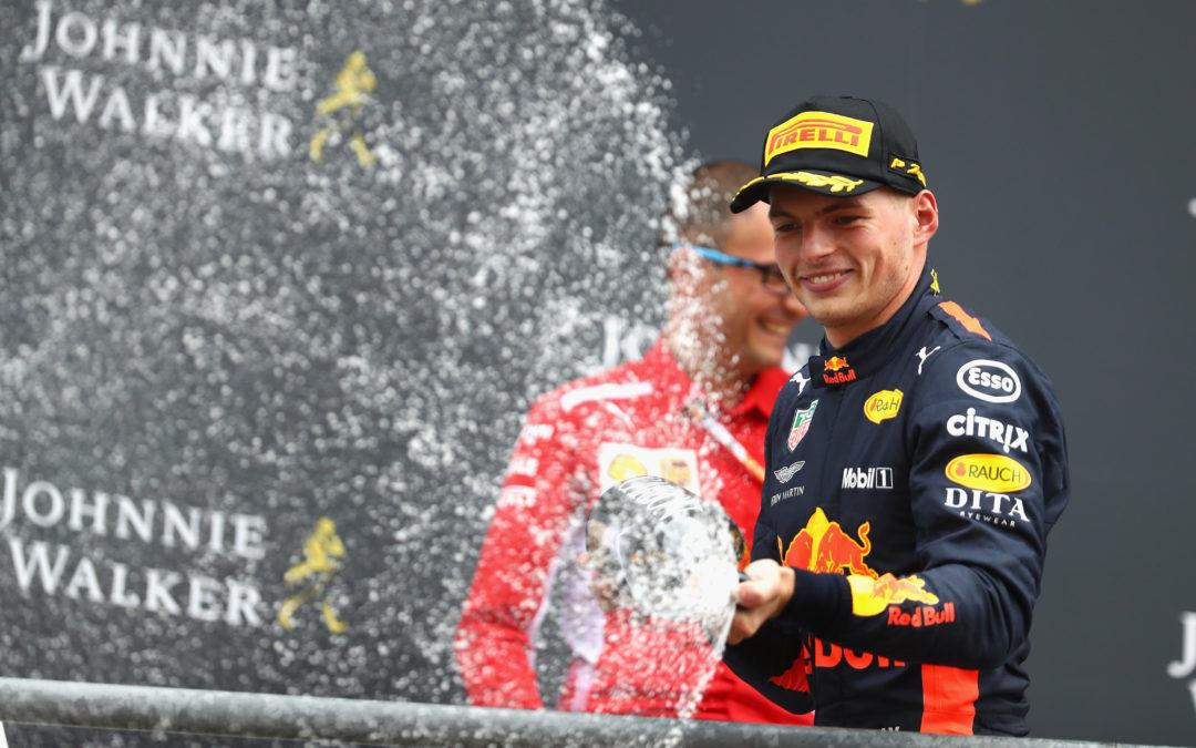 """Max Verstappen knokt zich tijdens GP België terug naar het podium: """"Erg blij"""""""