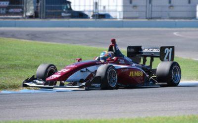 Rinus van Kalmthout direct op snelheid bij eerste Indy Lights testweekend op Indianapolis