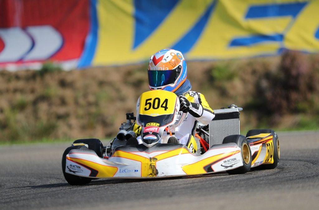 Sterke vijfde plaats voor Robert de Haan bij finale CIK-FIA Karting Academy Trophy in Genk