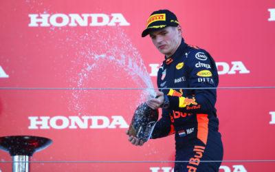 """Max Verstappen derde in Grand Prix van Japan: """"Erg blij om op het podium te staan"""""""