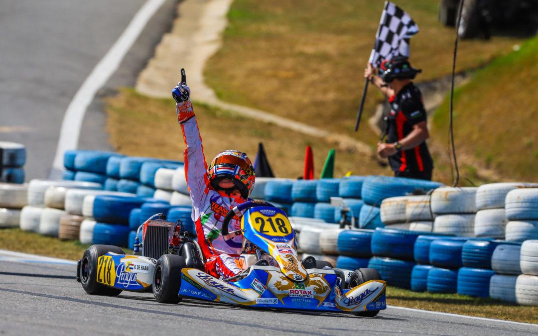 Twee Nederlandse tieners worden Wereldkampioen karten in Brazilië: Robert de Haan (12 jaar) en Senna van Walstijn (15 jaar)