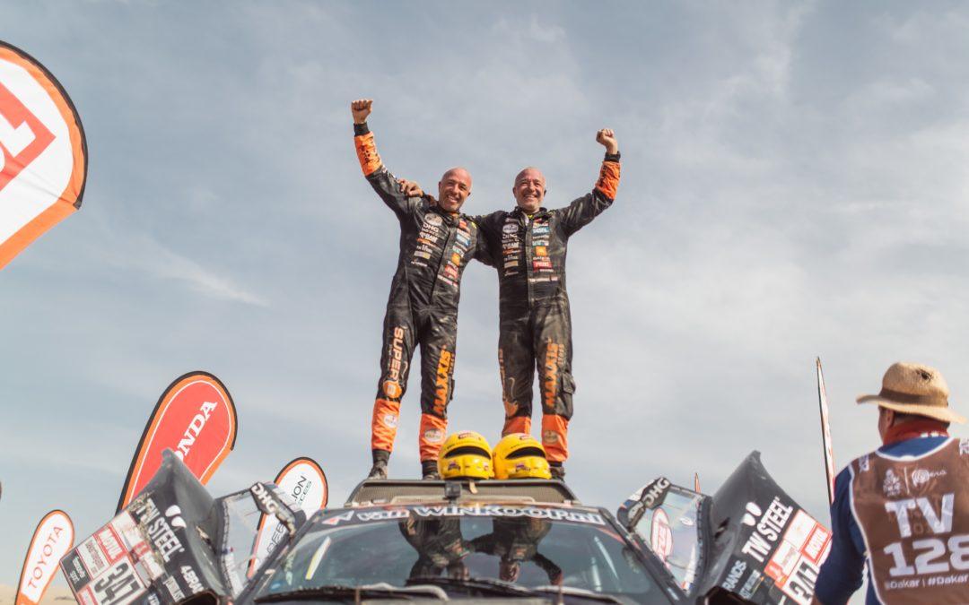Tim en Tom Coronel finishen Dakar Rally 2019