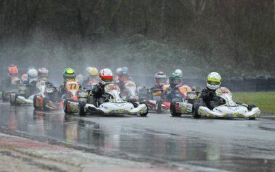 Tweeling Tim en Nick Gerhards toont in nieuwe kart snelheid tijdens Winter Cup