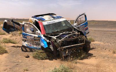 Zware crash Van Loon in Marokko