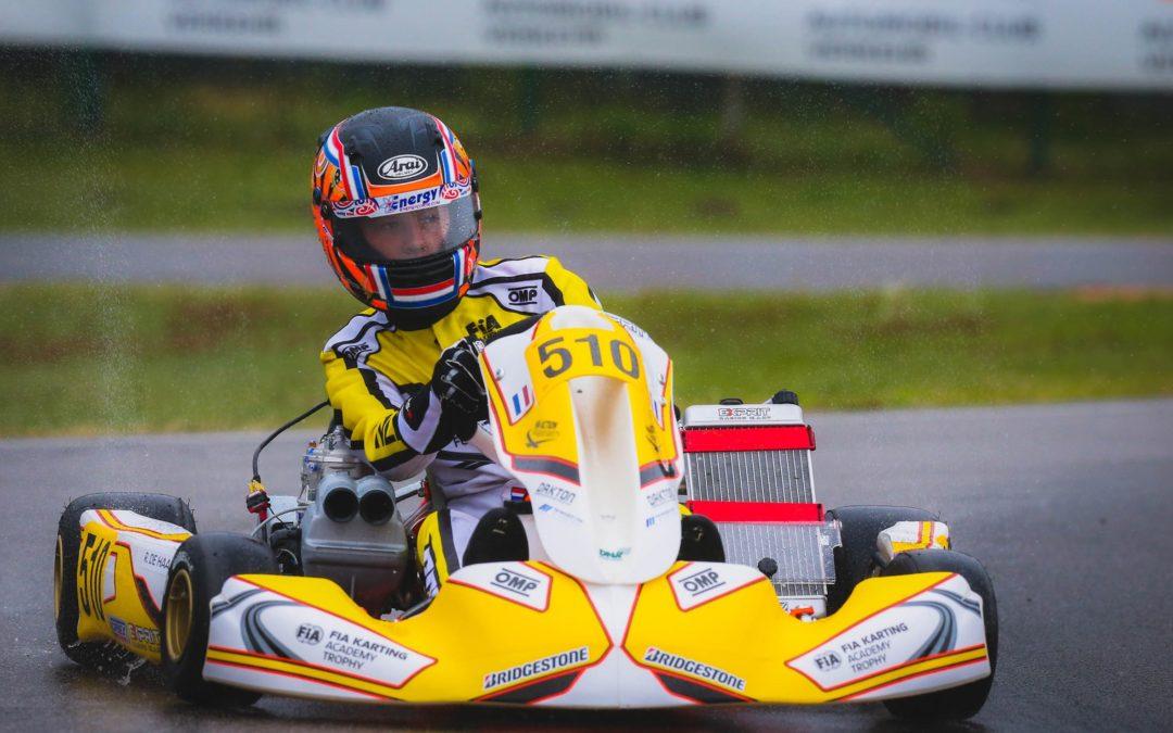 Robert de Haan maakt indruk met soevereine zege bij openingsronde FIA Karting Academy Trophy