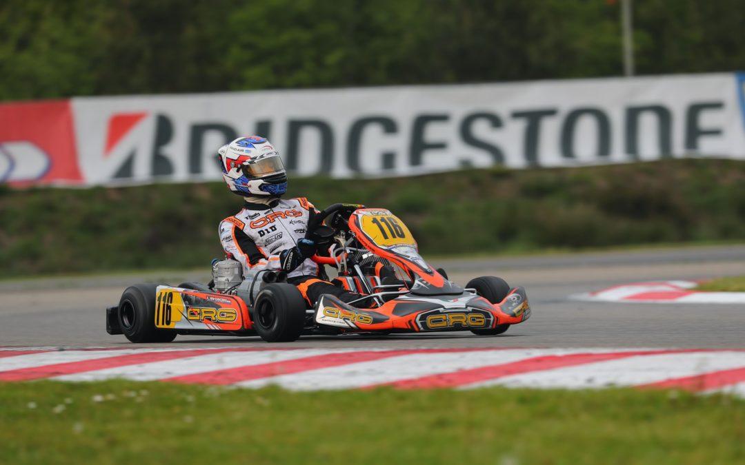 Inhaalraces Kas Haverkort bij FIA EK Karting in Genk niet beloond