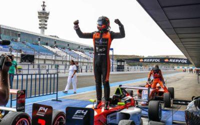 Dubbele winst voor Glenn van Berlo en podium voor Tijmen van der Helm in F4 op Jerez