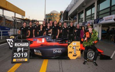 Sensationele zege Richard Verschoor bij debuut in Formula 3 Macau Grand Prix