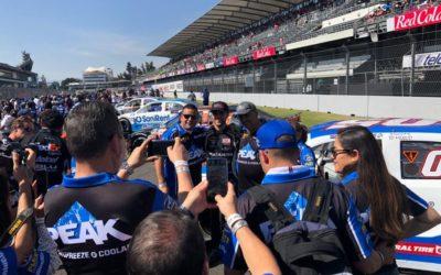 Loris Hezemans haalt het beste uit de zware NASCAR Peak Mexico Series Finale