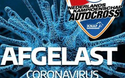 Impact coronavirus op het Eurol NK Autocross