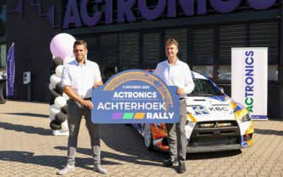ACtronics nieuwe hoofdsponsor Achterhoek Rally!